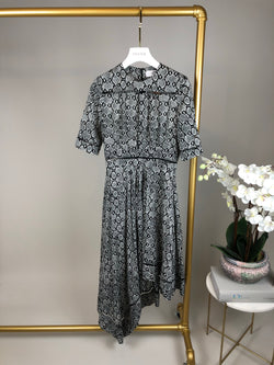 Zimmermann Snake Print Asymmetric Pleat Dress Size 0 (UK8)