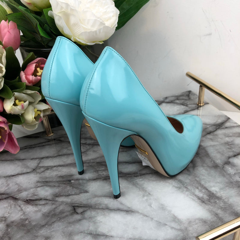Gucci Teal Court Shoes Size 36