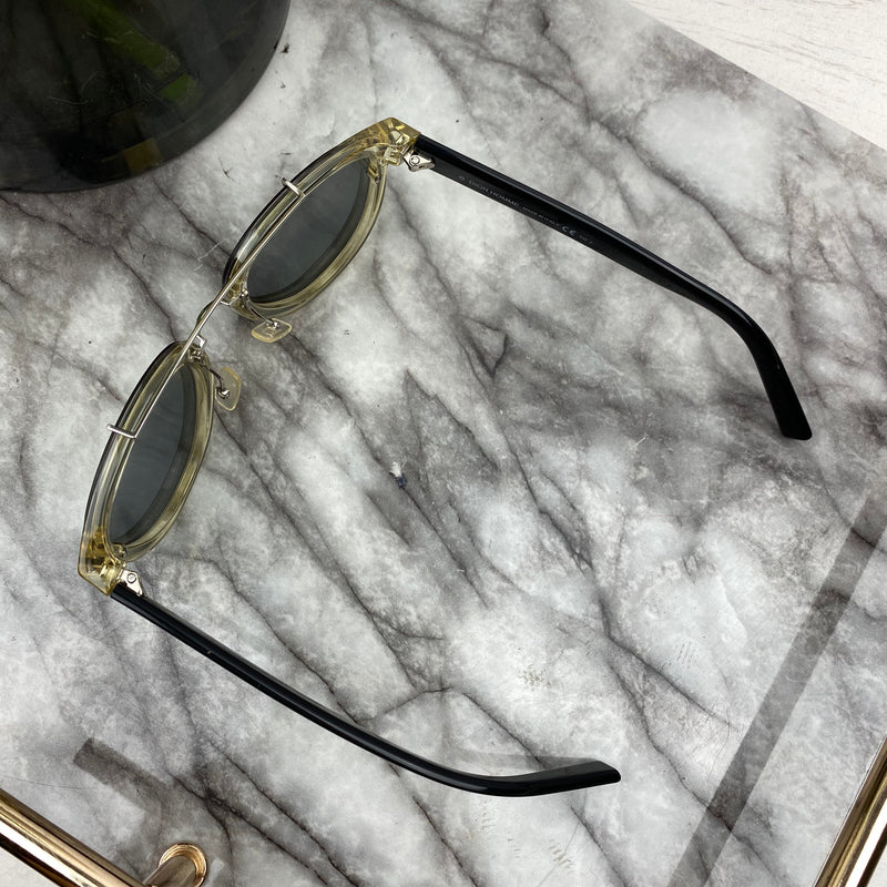 Christian Dior Green Perspex Frame Sunglasses