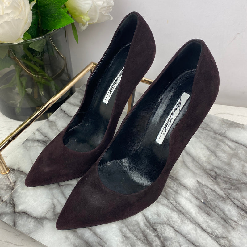 Brian Atwood Deep Burgundy Court Heels Size 39