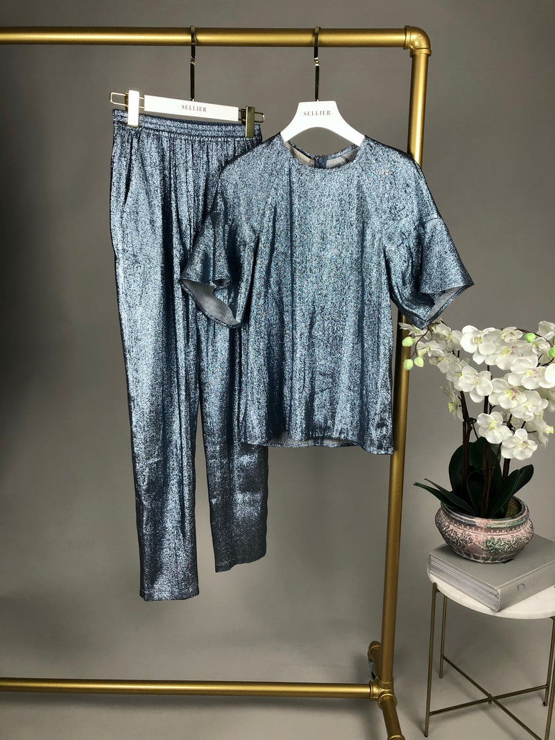 Stella McCartney Blue Shimmer Two Piece Set Size 36 (UK8)