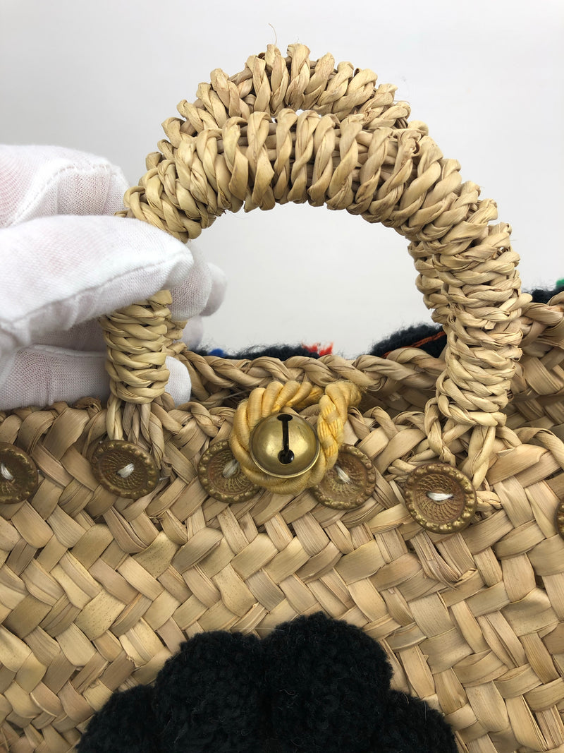 Muzungu Sisters Straw Embellished Bag