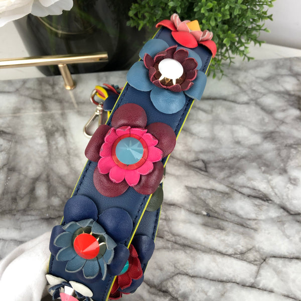Fendi Bag Strap in Multicoloured Flower Edition