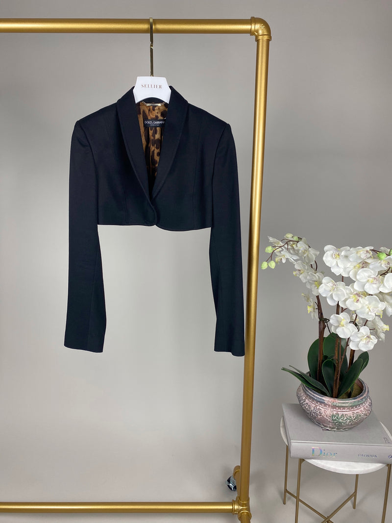 Dolce Gabbana Black Crop Blazer Size 42 (UK10)