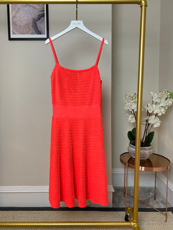 Christian Dior Neon Pink Strap Dress Size UK10
