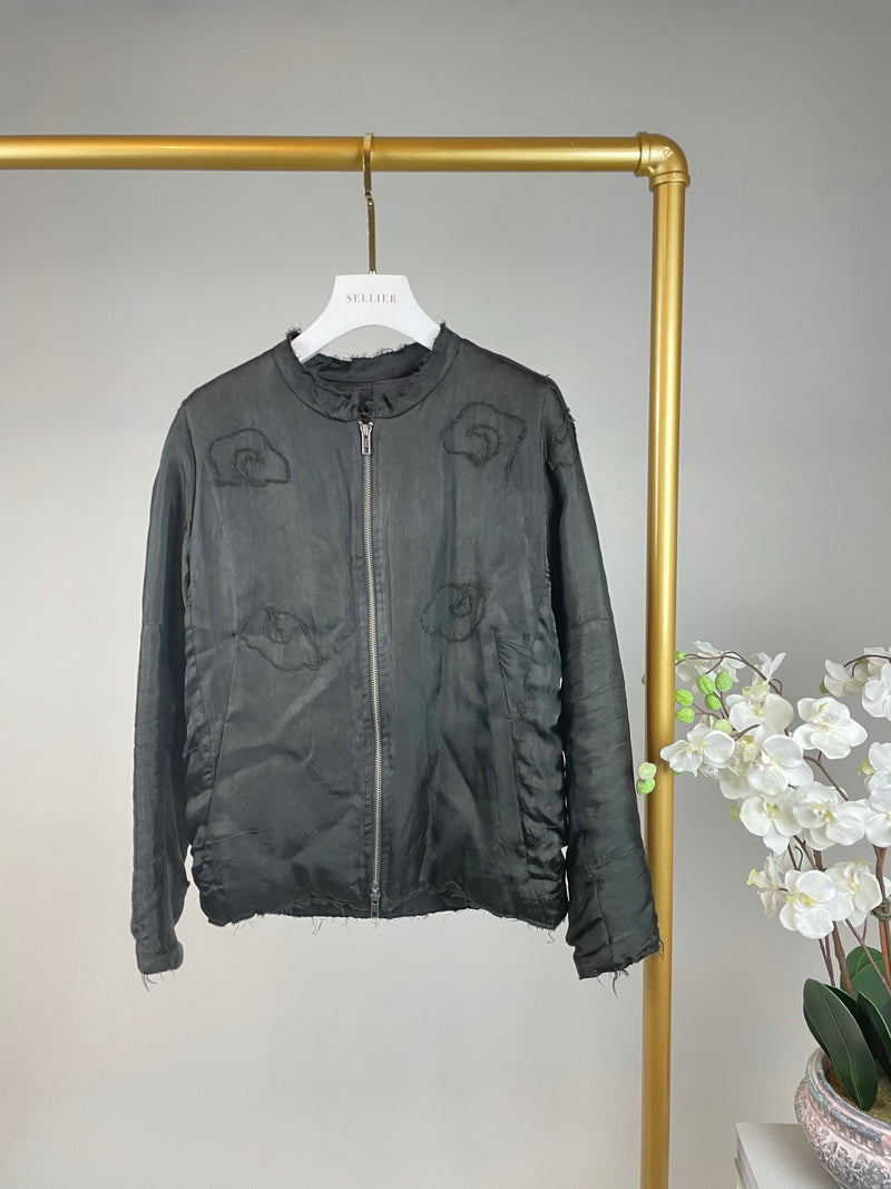 By Walid Black Silk Embroidered Bomber Jacket Size S RRP: £1,840