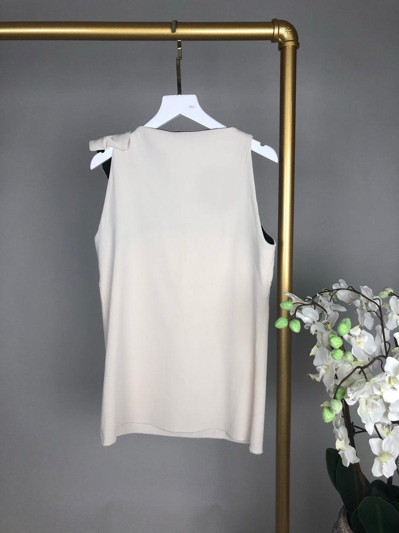 Lanvin Cream Knot Top Size 36 (UK8)