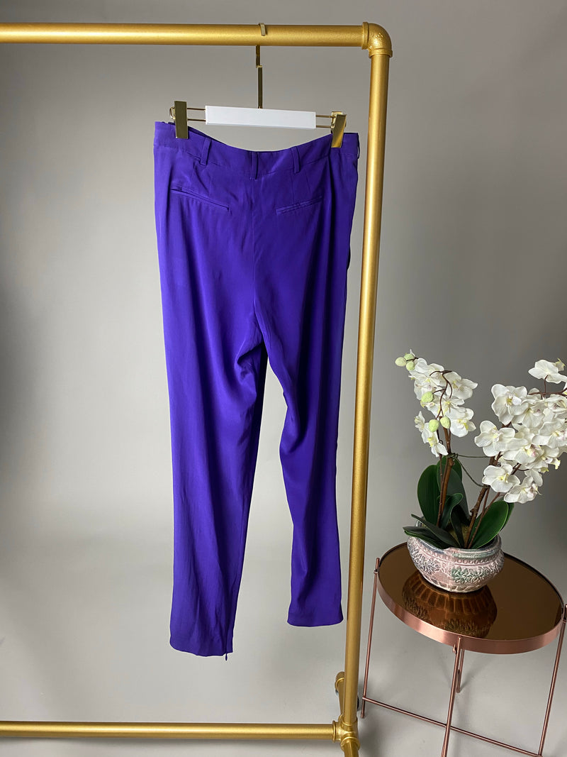 Vionnet Silk Purple Trousers Size 42