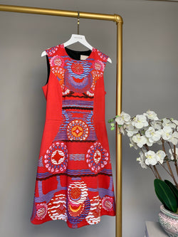 Peter Pilotto Pink and Blue Dress Size UK8