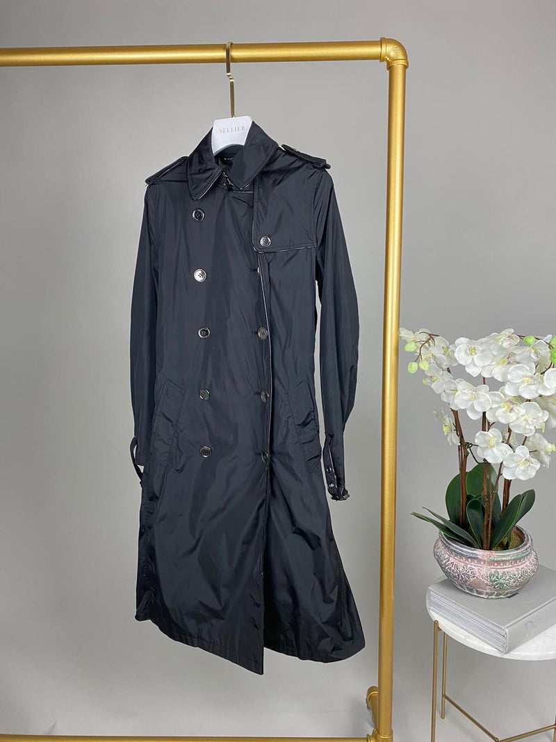 Burberry Black Trench Coat Size UK 6