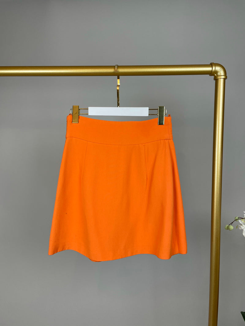 Prada Orange Mini Skirt Size 36