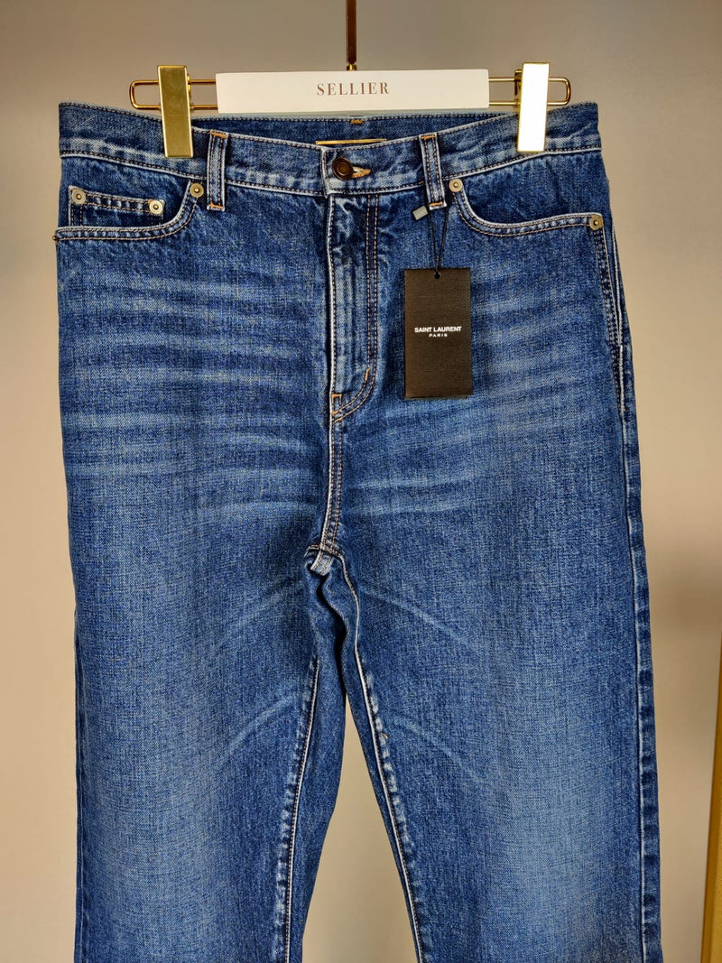 Saint Laurent Blue Denim Boyfriend Jeans Size W29 (UK12)