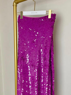 Emilio Pucci Pink Sequin/Silk Skirt Size UK 12