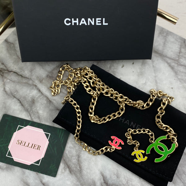 Chanel Multicoloured Gold Chain Adjustable Belt