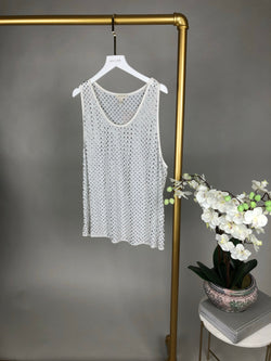 Marc Jacobs White Embellished Top Size L