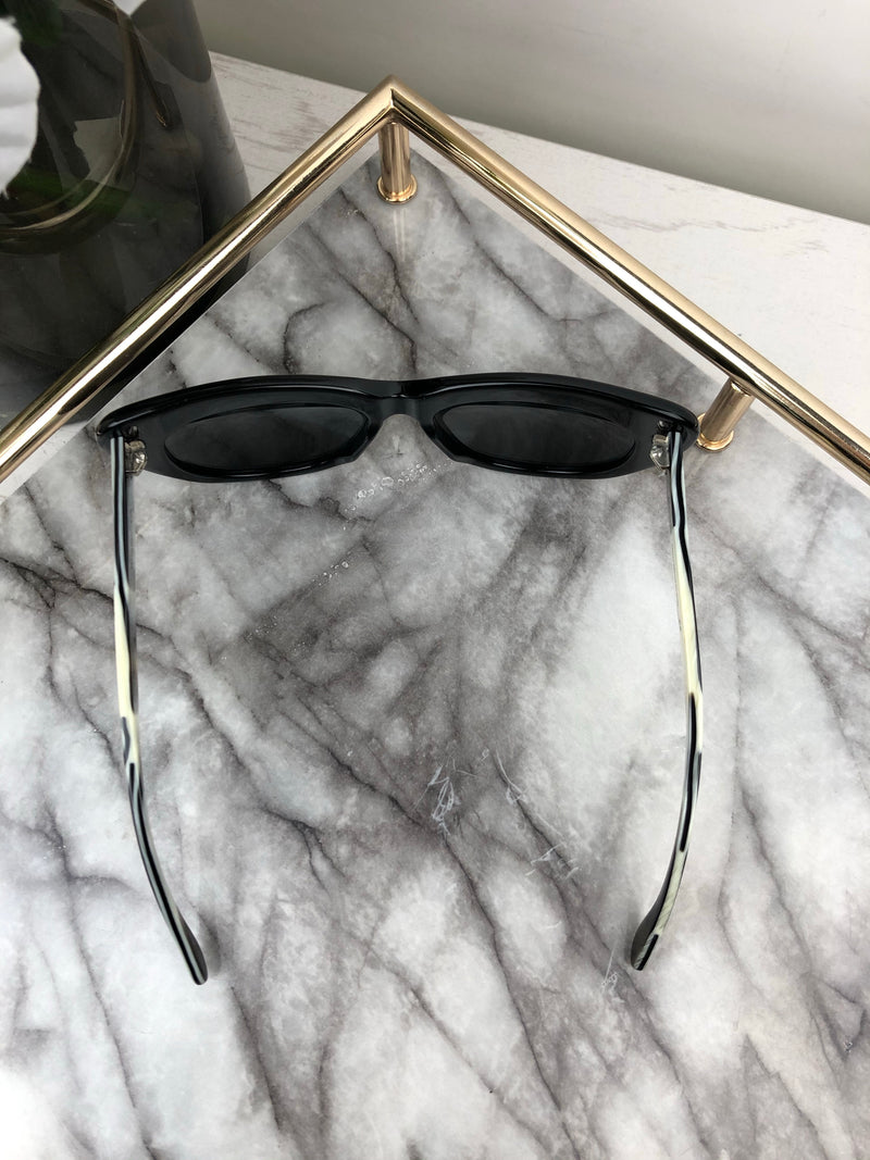 Illesteva Black Frame Cat Eye Sunglasses