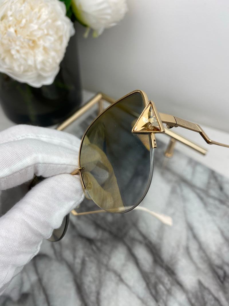 Fendi Cat Eye Gold Sunglasses
