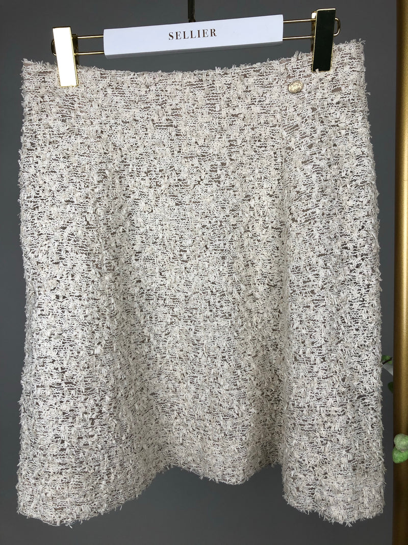Chanel Cream Tweed Skirt Size 40 (UK12)