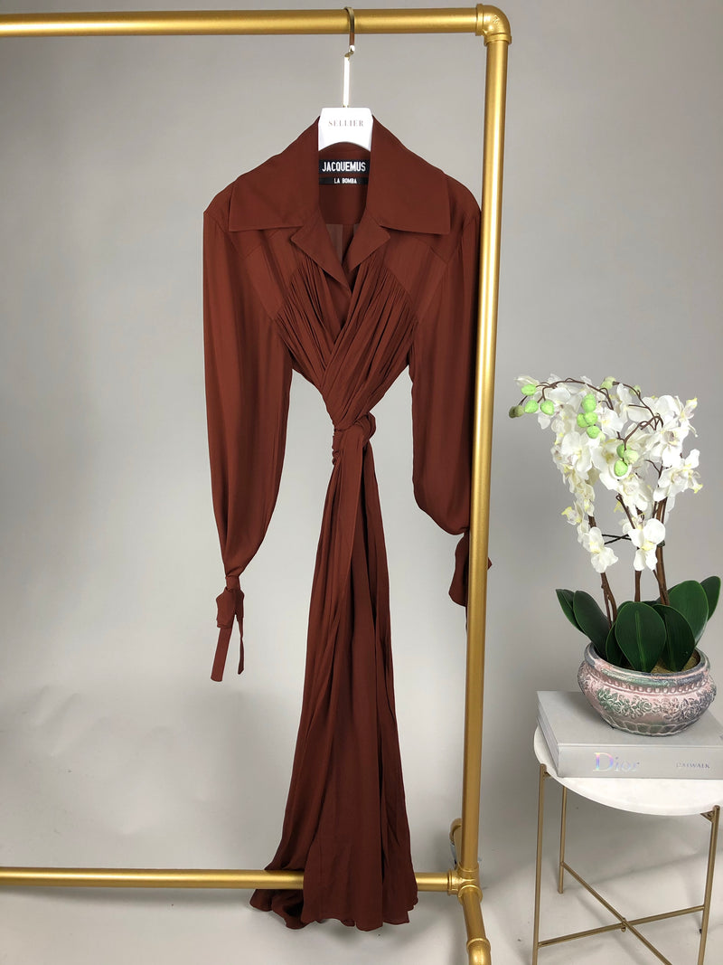 Jacquemus Brown Shirt Dress Size 34 (6UK)