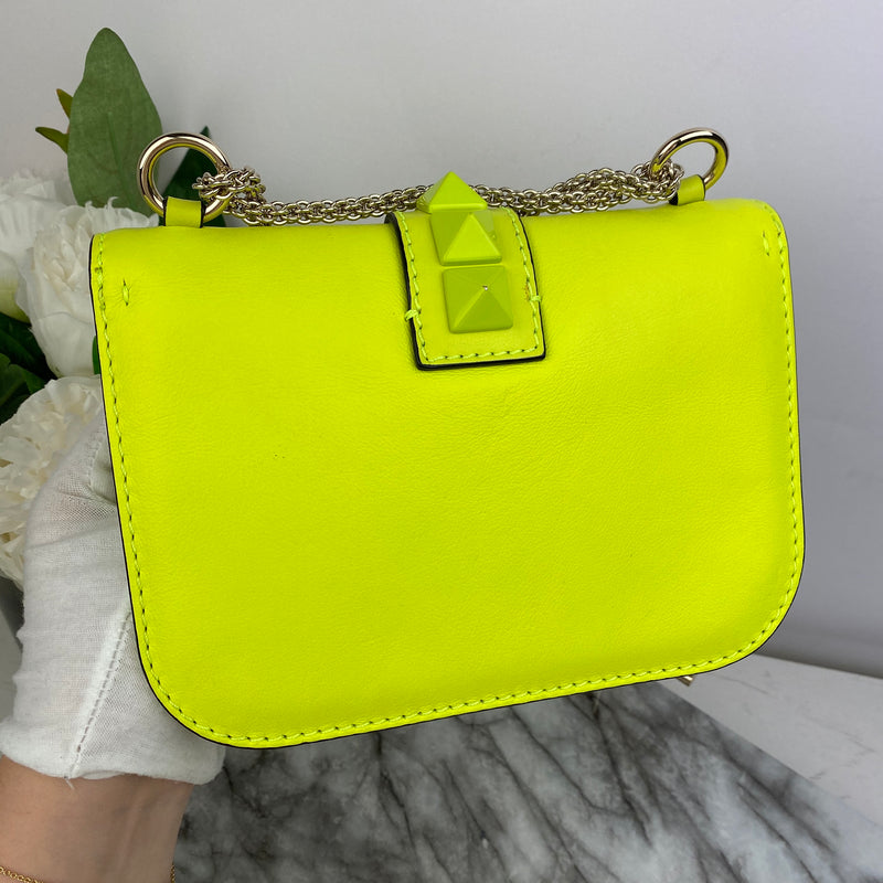 Valentino Rockstud Bag in Neon Yellow