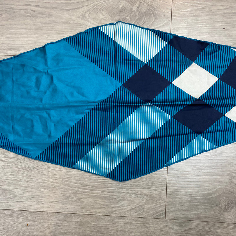 Burberry Triangle Shape Blue Silk Scarf