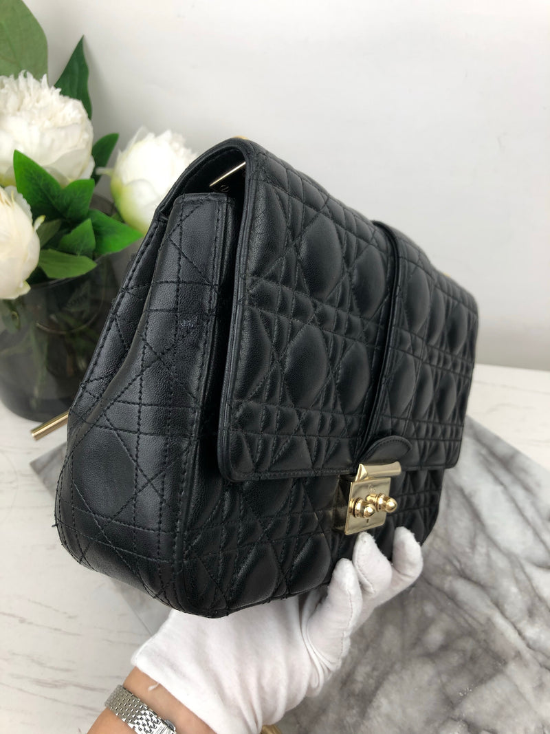 Christian Dior Black Miss Dior Cannage Shoulder Bag