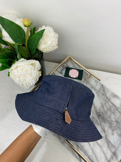 Hermes Blue Denim Bucket Hat