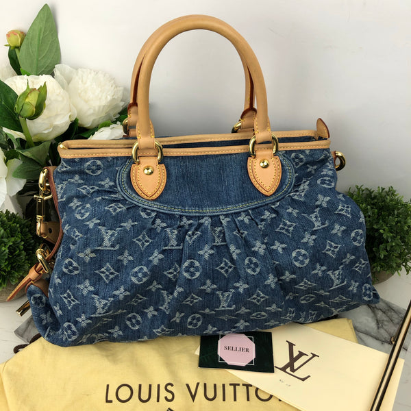 Louis Vuitton Soft Neo Cabby Denim Monogram Handbag