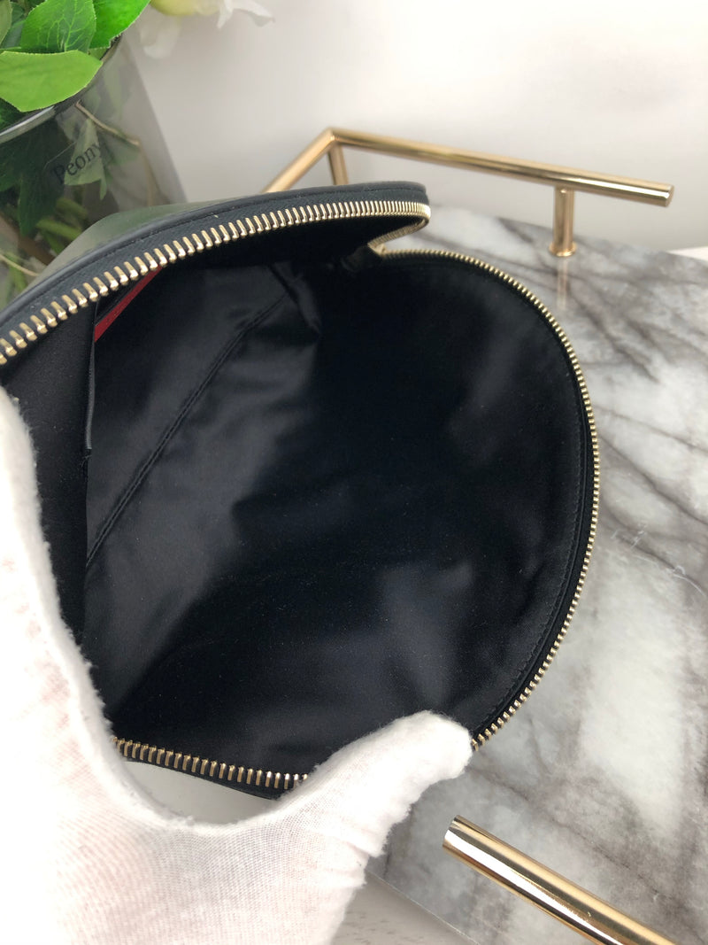 Valentino Black and White Logo Makeup Bag