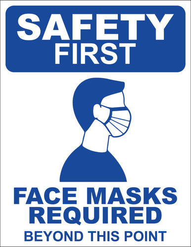 Face Mask Required Decals