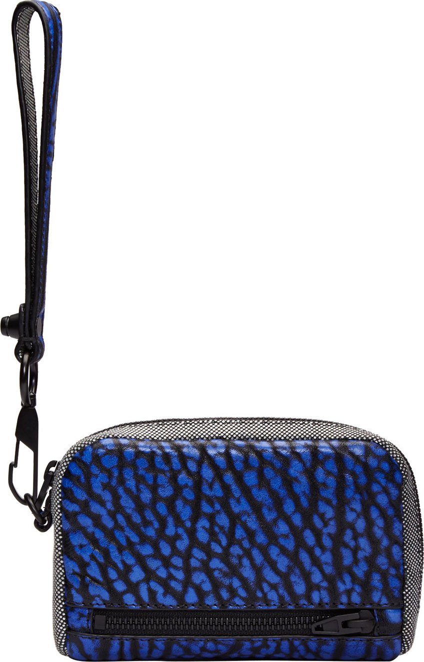 Alexander Wang Textured Leather Fumo Wristlet