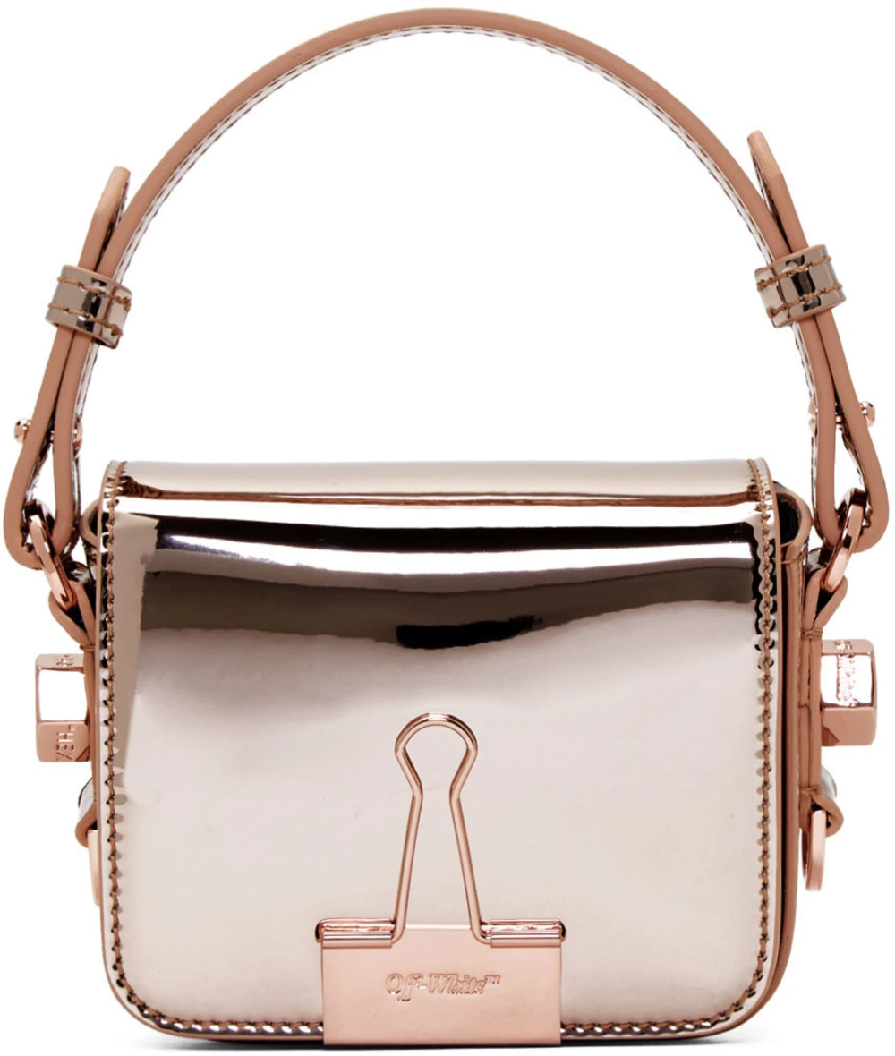 Off-White Pink Mirror Baby Flap Bag