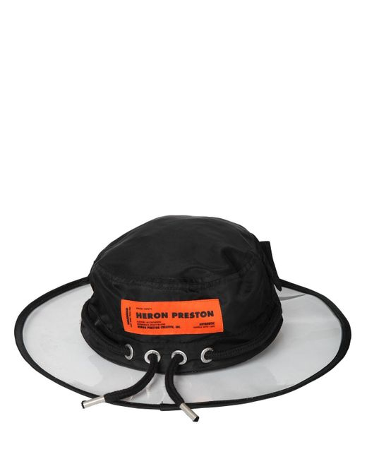 Heron Preston PVC & Nylon Hat