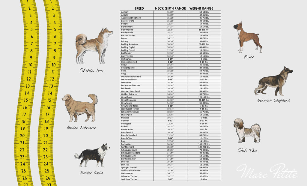Breed Size Chart