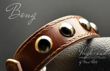 Load image into Gallery viewer, Brown leather collar