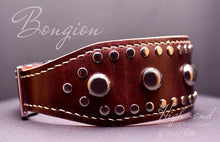 Load image into Gallery viewer, Handmade Large Leather Dog Collars