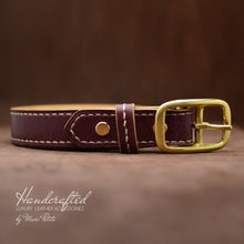 Load image into Gallery viewer, Burgundy  Leather Belt
