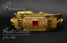 Load image into Gallery viewer, Royal Haute Couture Gold Dog Collar