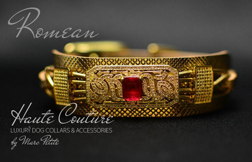 Royal Haute Couture Gold Dog Collar