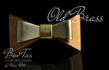 Load image into Gallery viewer, Old Brass Leather Dog Bow Tie