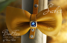 Charger l'image dans la galerie, Yellow leather bow tie