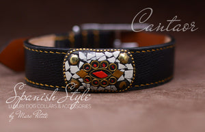 Luxury Dog Collar in genuine leather