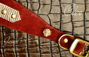 Panther Collar in Red & Gold