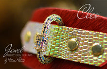 Load image into Gallery viewer, Jewelled Luxury Dog Collar in Red & Gold