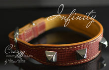 Load image into Gallery viewer, Custom made Leather Dog Collar with Spikes