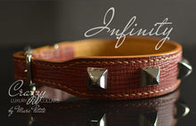 Load image into Gallery viewer, Exclusive Handmade Leather Dog Collar with Spikes