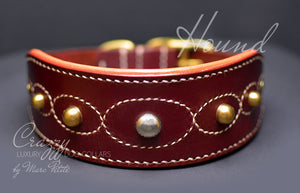 Handmade Hound dog collar
