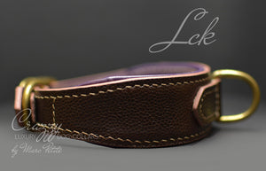 High-end leather dog collar