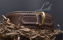 Load image into Gallery viewer, Brown leather dog collar