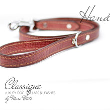 Load image into Gallery viewer, High Quality Red Carmine Leather Dog Leash
